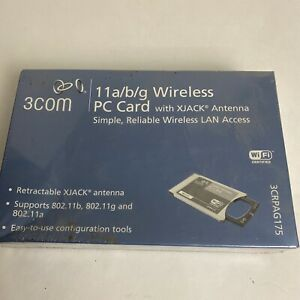 3COM 11a/b/g Wireless PC Card 3CRPAG175 Brand New with XJACK Antenna