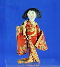 VINTAGE JAPANESE DOLL HOUSE DOLL IN KIMONO WITH COMPOSITION FACE