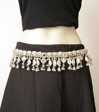 Tribal Fusion Belly Dance Mirror Cowrie BELT Hip Scarf Skirt Costume Accessories