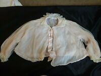 Vintage Stella Fagin Pink Bed Jacket with Lace Collar  Boudoir Lingerie