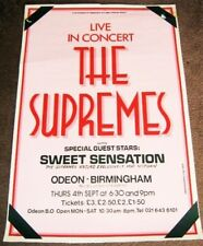 THE SUPREMES CONCERT POSTER THURSDAY 4th SEPTEMBER 1975 BIRMINGHAM ODEON THEATRE