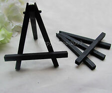 6pcs Mini Blakc Display Miniature Easel Wedding Table Number Place Name Card