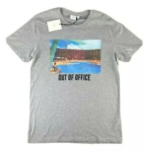 $50 ONIA Johnny | Out Of Office | T-Shirt Heather Grey Size Medium New