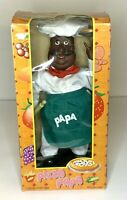 Vintage Italian PIZZA PAPA Black Chef Animatronic Singing Dancing Figure In Box