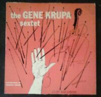 "THE GENE KRUPA SEXTET 10"" LP Rare 1954 Clef Records MGC147 Norman Granz VG"