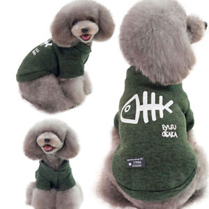 Warm sweater clothing Cat Dog Pets - Fish bone
