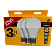 Kodak A60 E27 LED Globe Screw Bulb 10W Warm White 806L 3 Pack