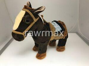 1PC NEW WALKING PONY HORSE W/ SOUND LEASH TOYSTUFF PLUSH BATTERY KIDS FUN- BROWN