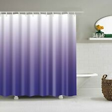 Shower Curtain Gradual Color Waterproof Bathroom Decor Shower Curtain Set