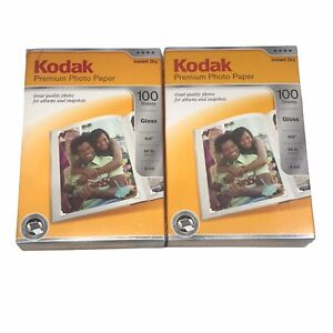 "Lot of 2 Kodak Premium Photo Paper - 4"" x 6"" Gloss Instant Dry 200 Sheets Total"