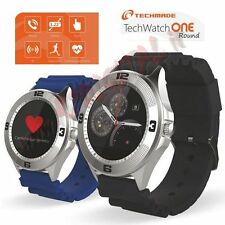 "Smartwatch Display 1.22"" Bluetooth per iOS Android OROLOGIO TELEFONO CELLULARE"