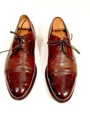 Men's Shoes Size 11.5 M Brown Lace Up Made in Italy Johnston Murphy Oxford Shoe
