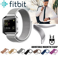 Watch Replacement Stainless Steel Loop Strap Wrist Band+Frame For Fitbit Blaze