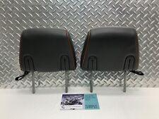 07-14 LINCOLN NAVIGATOR REAR SEAT 2ND ROW HEADREST SET HEAD RESTS BLACK & BROWN
