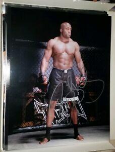BOBBY LASHLEY Signed 11x14 PHOTO - UFC MMA GLOVE POSTER AUTO Conor Ronda WWE tna