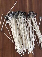10st. Gewachster Runddocht/Kerzendocht mit Halter 15 cm lang 2mm
