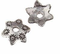 40 Perlenkappen Perlkappen 10mm Tibet Silber Spacer Zwischenperlen BEST M237