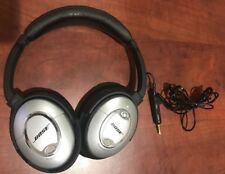 Bose QuietComfort 15 Headphones ONLY Silver QC15 QC-15 Noise cancelling*USED