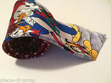 DISNEY Mickey Mouse Mens Neck Tie Necktie Snowman Christmas Goofy Holiday