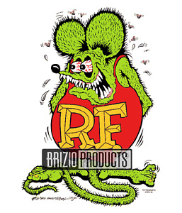 "Rat Fink ""Original Rat"" White Tee Shirt 8936 Front Print"