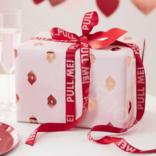 Valentines Day Gift Wrapping Kit Gift Wrapping Paper Red Gift Wrap Ribbon Tags