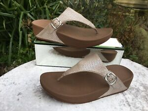 Genuine FitFlop Women's Snake Thong Sandals Size UK 6