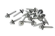 "100 x 45mm TEK SELF DRILLING METAL ROOFING SCREWS TO WOOD, 8mm (5/16"") HEX HEAD"