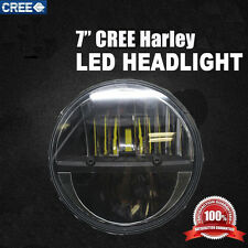 """7"""" CREE H4 H13 LED Hi/Lo Light Projector Daymaker Headlight For Harley Truck P7"""