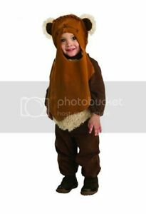 Toddler Boys STAR WARS Romper Ewok Costume Outfit