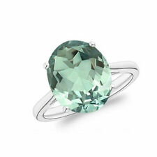 925 Silver Wedding Rings Sz 10 Elegant Women Emerald Jewelry Ring Cubic Zirconia