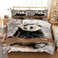 Panda Duvet Cover Set Twin Queen King Size Bedding Set Animal Pillowcase US