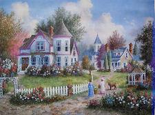 "Dennis Patrick Lewan ""Morning Walk"" Facsimile Signed Giclee on Canvas"