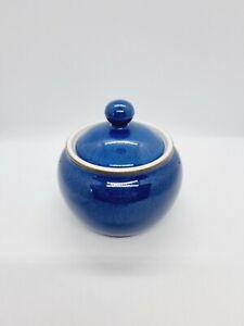 Denby Imperial Blue lidded sugar bowl