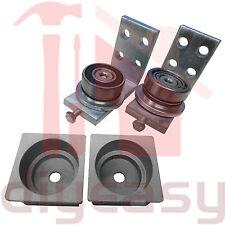 Punch in Ball Bearing Hinge Aluminium 300kg 50x50mm Set NO INSIDE LIP
