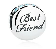 Best Friend Charm bead 925 Sterling Silver ideal present + free gift bag