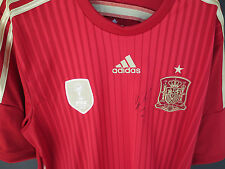 Spain- David Villa hand signed World Cup  jersey - Brand new - photo proof & COA