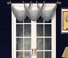 "NEW ELEGANT WATERFALL GROMMET VOILE SHEER VALANCE WINDOW TREATMENT 55'X24"" K36"