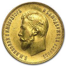 1898-1911 Russia Gold 10 Roubles Nicholas II AU - SKU #52816