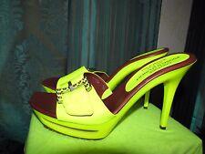 Donald J Pliner neon yellow high heel sandals size US 9