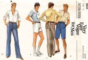 1970's VTG VOGUE Men's Shorts and Pants Pattern 9834 Size 32 UNCUT