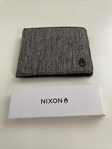 New Nixon Surfer Skater Street Style Designer Mens Bi Fold Wallet Gray