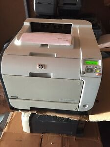 HP Color LaserJet CP2025N Workgroup Laser Printer with toners USB Power Cord
