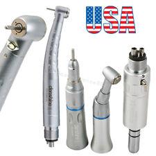 Dental High Low Speed Handpiece Kit E-generator LED Push 3W 4 Holes Fit NSK KAVO