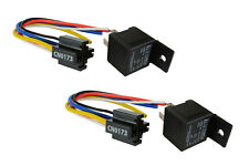 2 Lot Temco 12 V 30/40 Amp Bosch Style S Relay with Harness Socket Automotive