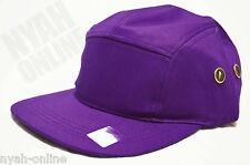 NEW PLAIN 5 PANEL FITTED CAP CITY HUNTER JOCKEY BASEBALL FLAT PEAK HAT