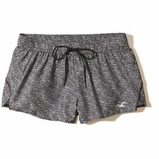 NWT Hollister Running Short in Space Dye Gray Active Shorts w/ Briefs L