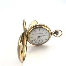 Vintage Elgin size 18 Grade 96 7 Jewel lever set full hunter gold filled pocket