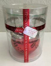NEW Slatkin & Co HOLIDAY GLOW Red Fragrance Oil Warmer Holly & Berries