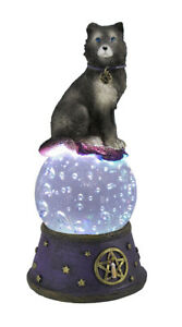 Scratch & Dent Majestic Wolf LED Light Crystal Ball Statue Pagan Wicca Pentacle