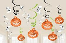 Pumkins & Ghosts Hanging Swirl Decorations Halloween Party Accessory